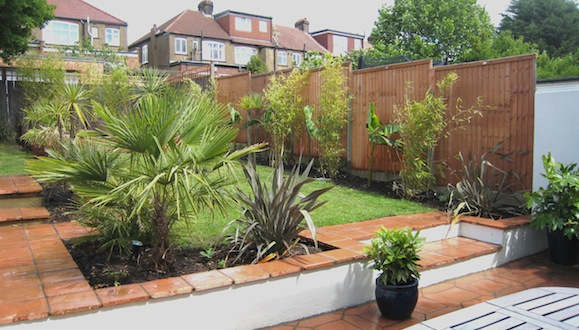Moroccan style garden in palmers green brightling garden for Moroccan style garden ideas